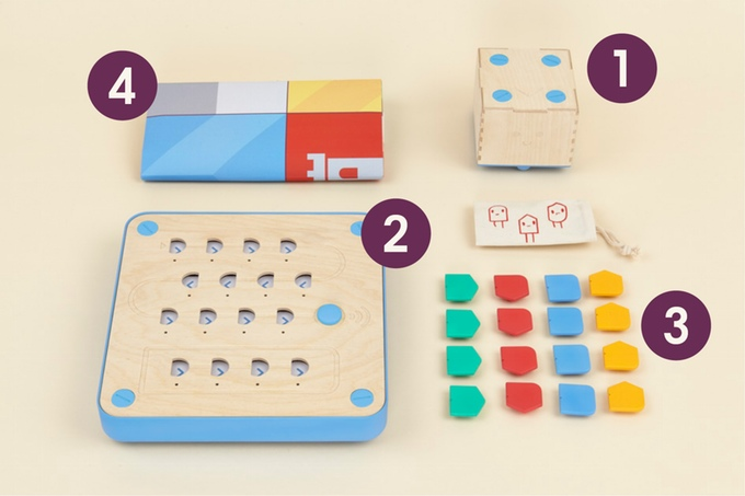The content of a cubetto box (Image: kickstarter/© primotoys.com)