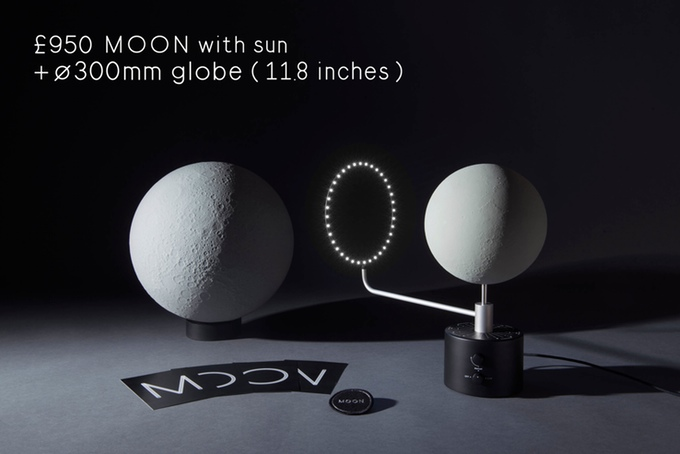 It was always a little bit expensive to fly to the moon - MOON, the moon globe (image: kickstarter/© moonproject.space)
