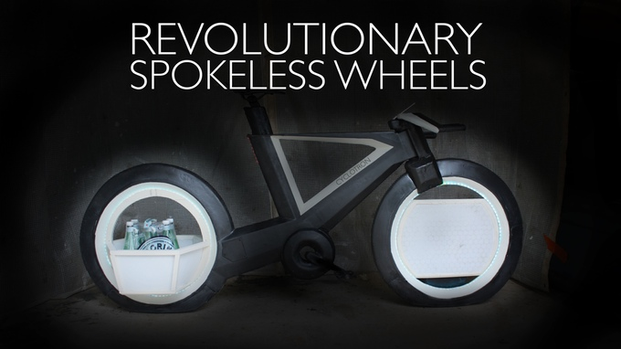 So futuristic that we will probably have to wait a long time for it - the Cyclotron Bike (Picture: kickstarter / © Cyclotron Cycles)