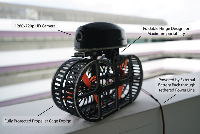 A fan over your head? No problem with tonbo, the flying fan drone (image: kickstarter/©:Dsin)